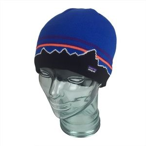 Patagonia Classic Fitz Roy Andes Blue Beanie OS